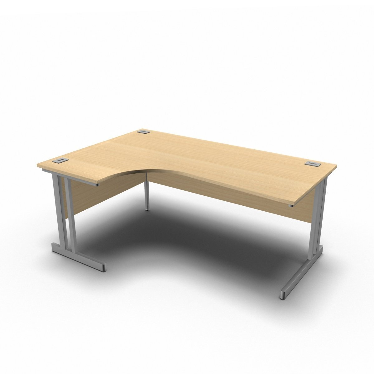 Desk 1800 x 1200 x 800 x 600mm / Left / Maple Synergy Crescent Desks