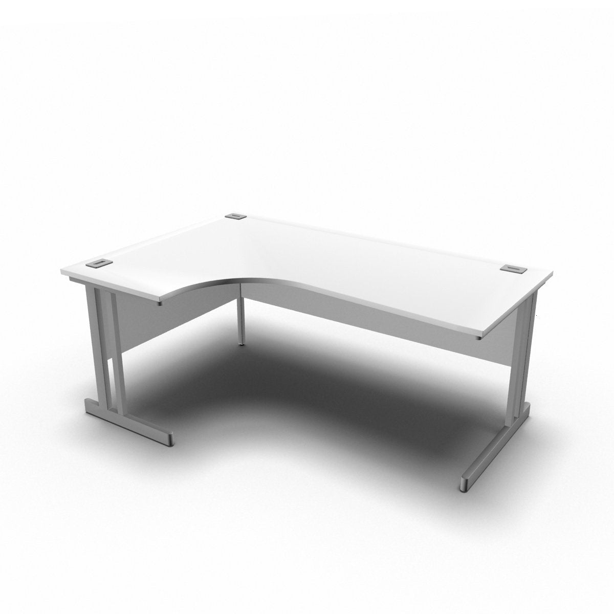 Desk 1800 x 1200 x 800 x 600mm / Left / White Synergy Crescent Desks