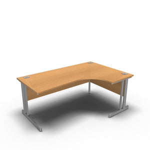 Desk 1800 x 1200 x 800 x 600mm / Right / Beech Synergy Crescent Desks