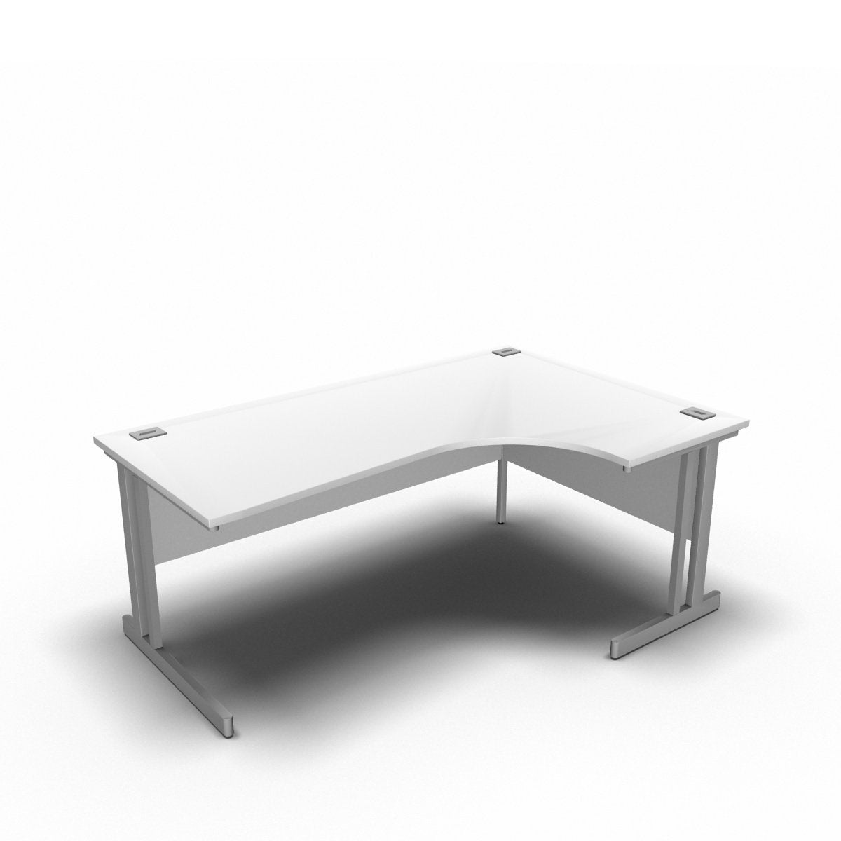 Desk 1800 x 1200 x 800 x 600mm / Right / White Synergy Crescent Desks