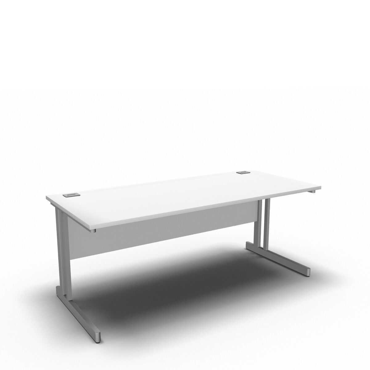 Desk 1800 x 800mm / White Synergy Straight Desks