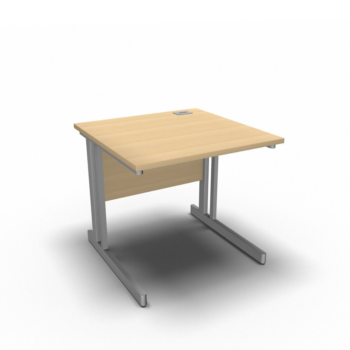 Desk 800 x 800mm / Maple Synergy Straight Desks