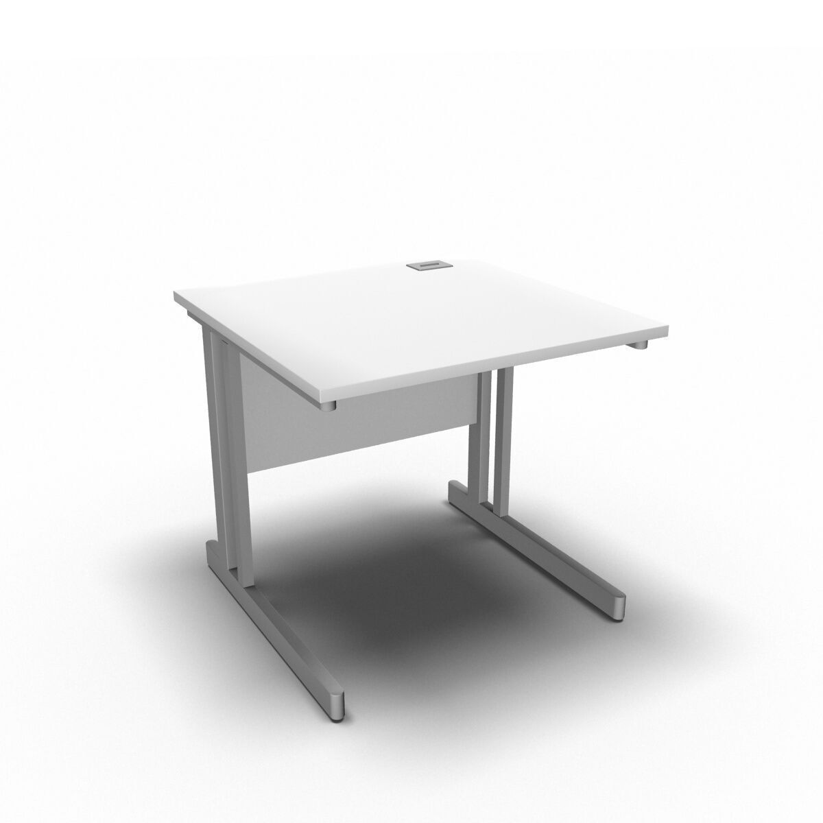 Desk 800 x 800mm / White Synergy Straight Desks