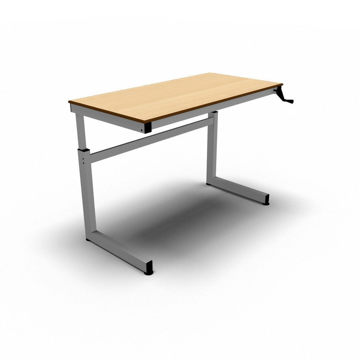 top adjustable fusion maple the standing product table multitable r electric l desks desk height shaped