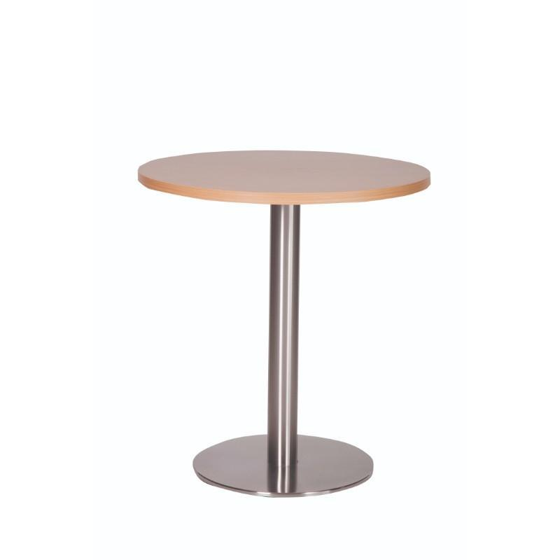 Dining Table Beech Carafe Round Stainless Steel Base Dining Table Beech