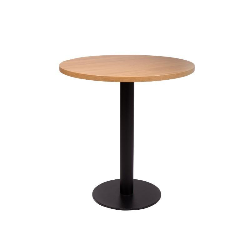 Dining Table Carafe Round Black Base Dining Table