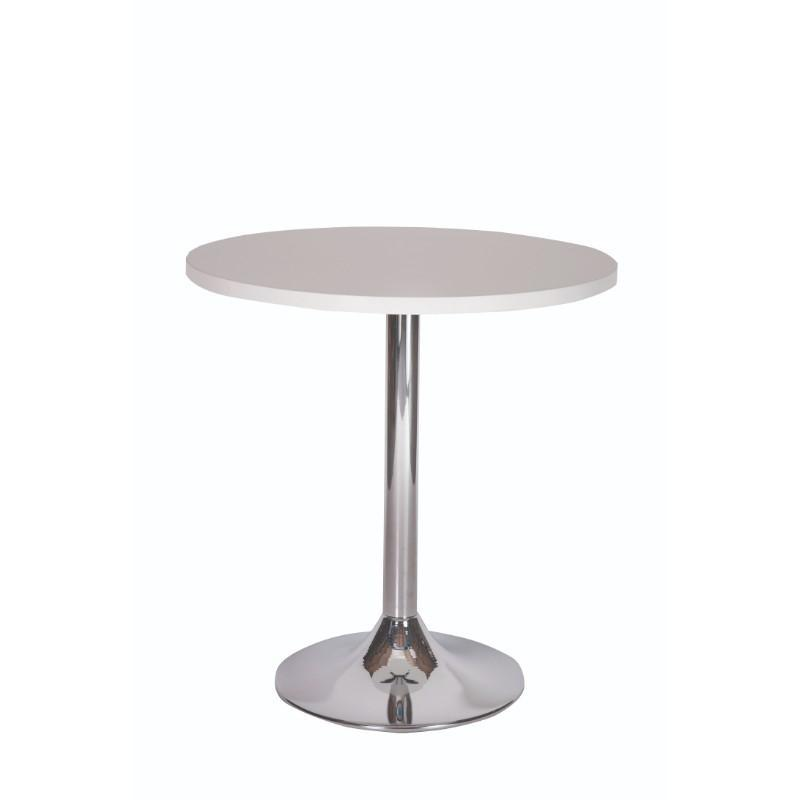 Dining Table Palma Round Chrome Pedestal Base Dining Table