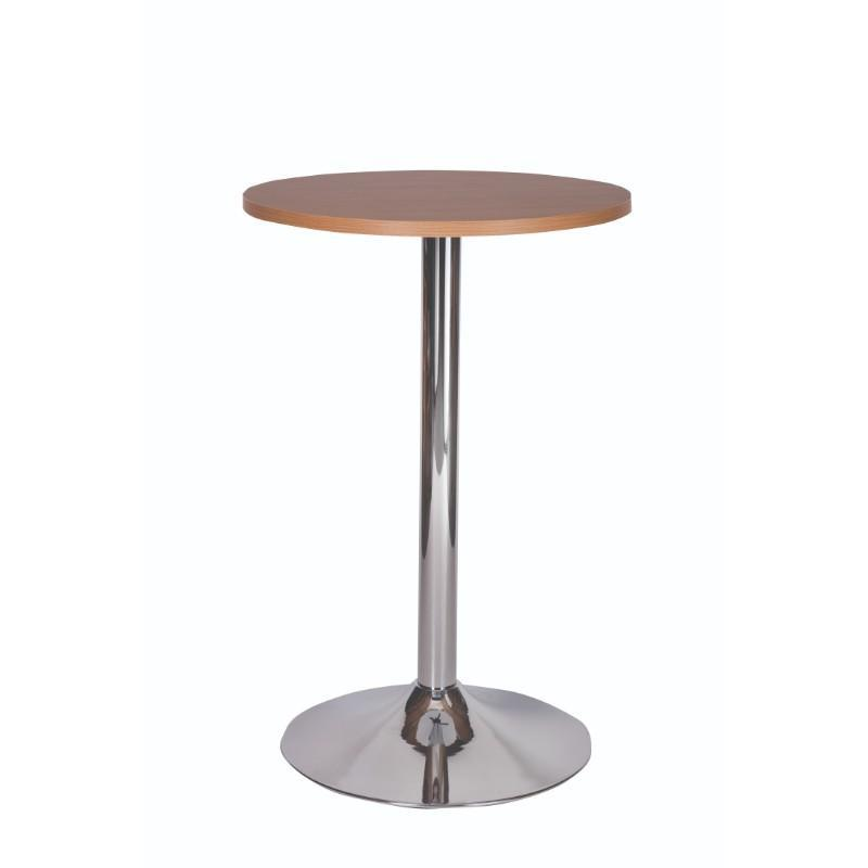 Dining Table Palma Round Chrome Pedestal Base Poseur Table
