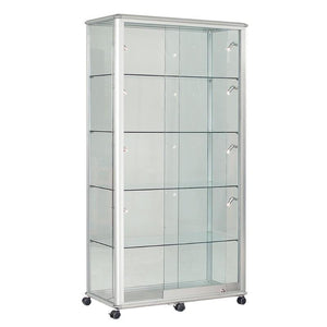 display cabinet h2000 x w1200 x w600 mm / Aluminium / No Illumination Premium Glazed Wide Tower Display Cases h2000 x w1200 x w600 mm / Aluminium / No Illumination