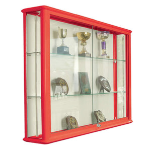 display cabinet h900 x w1200 x d200 mm / Aluminium / No Illumination Premium Glazed Wall Display Cases h900 x w1200 x d200 mm / Aluminium / No Illumination