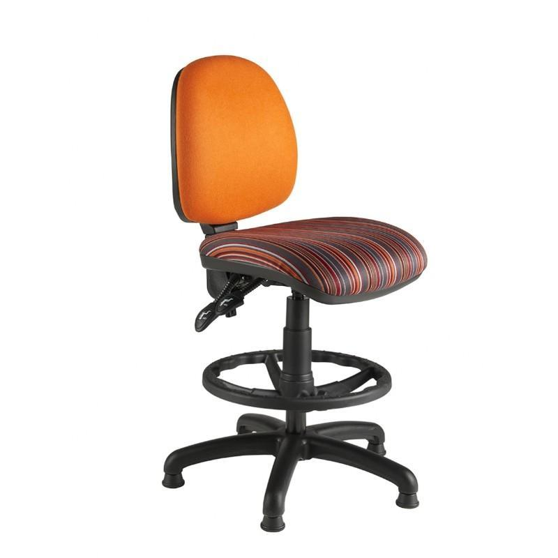 Draughtsman Chair No Arms / Standard / Black Abingdon Medium Back Draughtsman Chair No Arms / Standard / Black