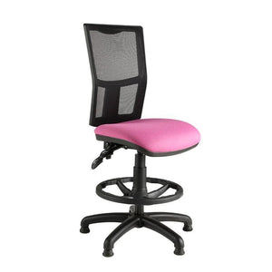Draughtsman Chair No Arms / Standard / Black Clipper Mesh Back Draughtsman Chair No Arms / Standard / Black