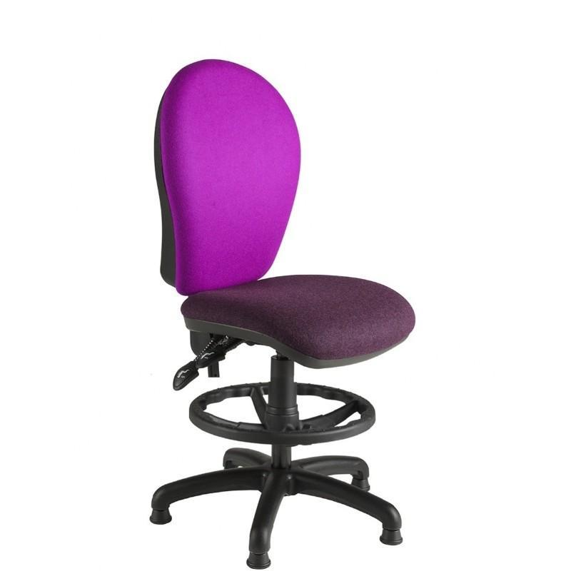 Draughtsman Chair No Arms / Standard / Black Helix Round Back Draughtsman Chair No Arms / Standard / Black