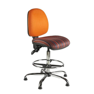Draughtsman Chair No Arms / Standard / Chrome Abingdon Medium Back Draughtsman Chair No Arms / Standard / Chrome