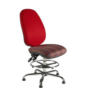 Draughtsman Chair No Arms / Standard / Chrome Marlow Plus Draughtsman Chair No Arms / Standard / Chrome