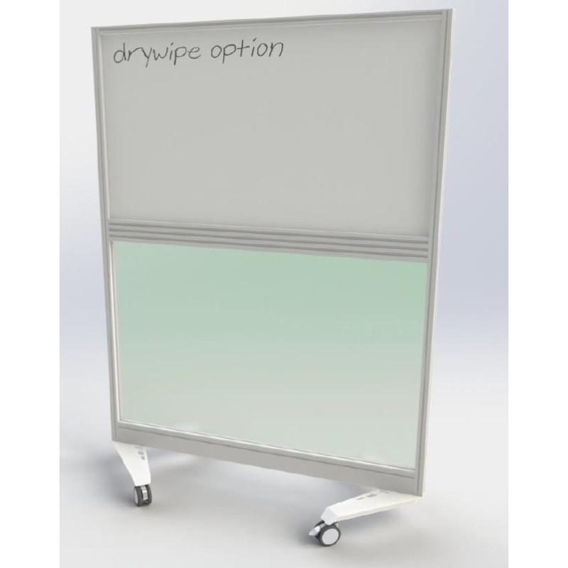 Floor Standing Screen w800 x h1500 mm Gamma Perspex Mobile Screen w800 x h1500 mm