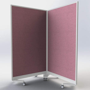 Floor Standing Screen w800 x h1500 mm Gamma Upholstered Mobile Screen w800 x h1500 mm