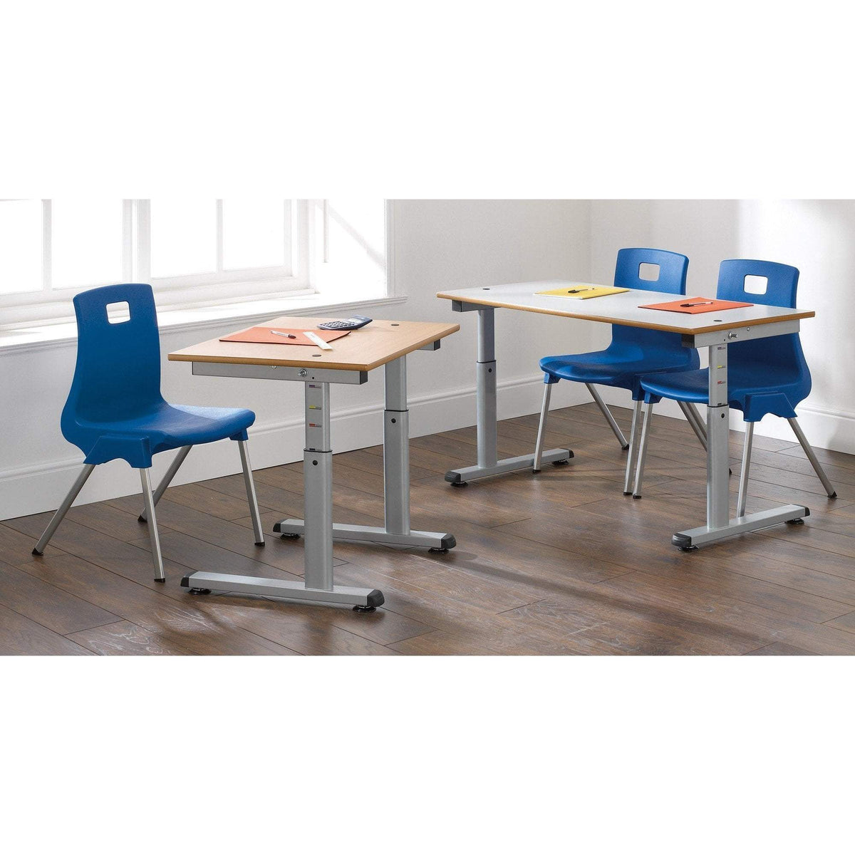 height adjustable table 700 x 600mm Single Desk / MDF Access Height Adjustable Table 700 x 600mm Single Desk / MDF