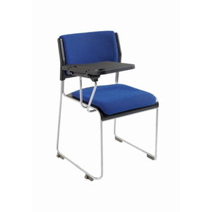 Meeting Chair Side Chair, Upholstered Seat & Back with Tablet Royston Sled Frame Chair