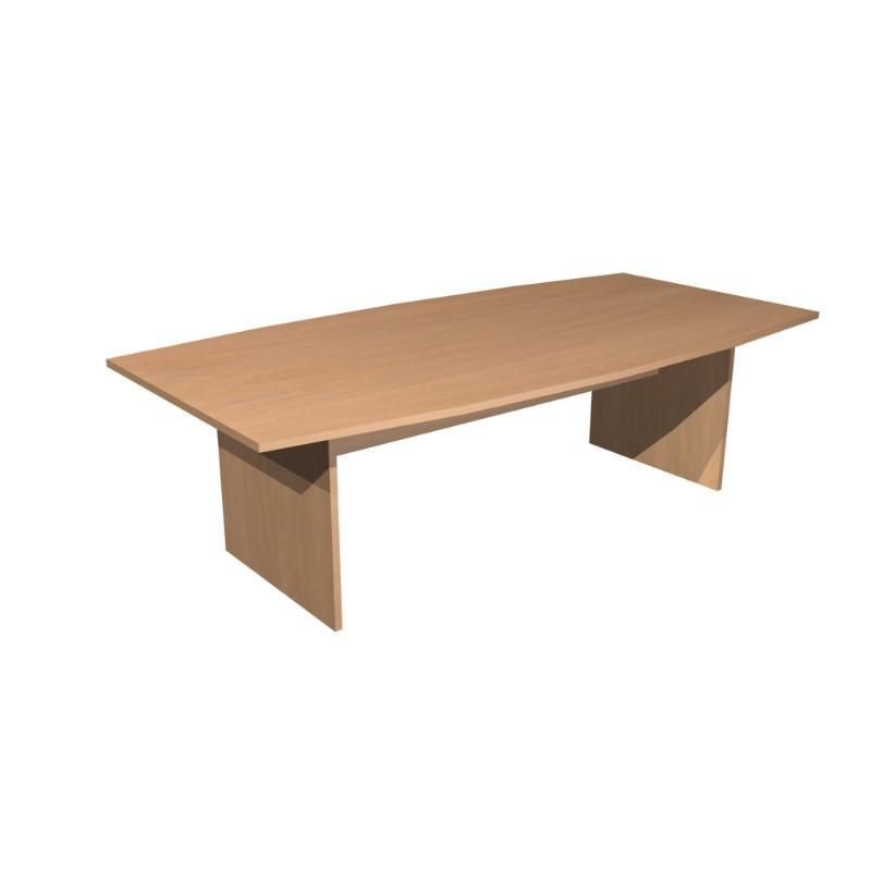 Meeting Table Alpine Barrel Top Table With Panel Legs