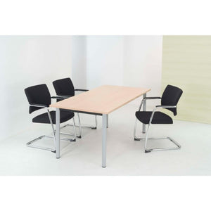Alpine Meeting Table With Fixed Pole Legs, 600mm Deep