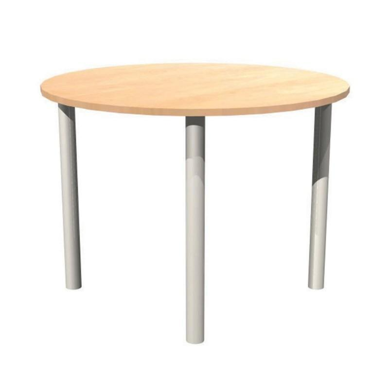 Meeting Table Alpine Round Meeting Table With Pole Legs