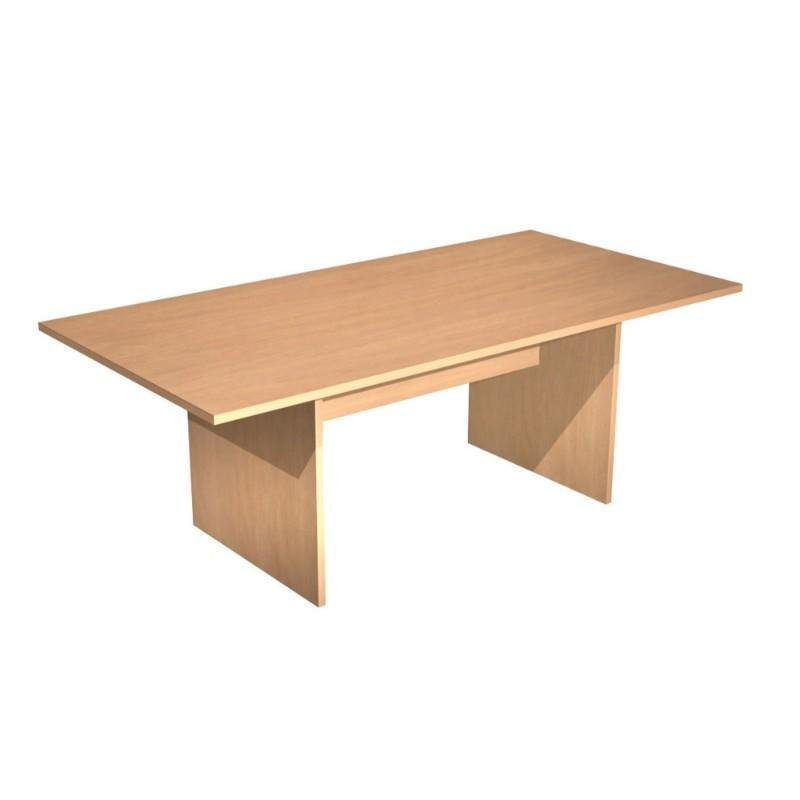 Alpine Square-End Table With Panel Legs