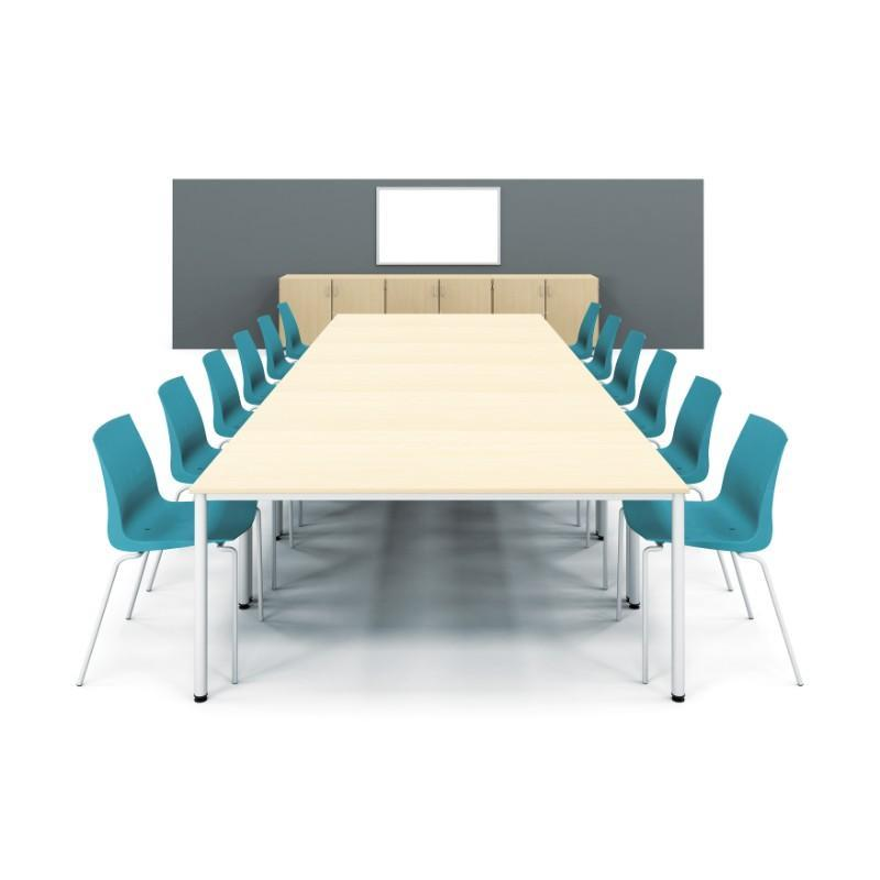 Meeting Table Colorado Pole Leg Rectangular Tables