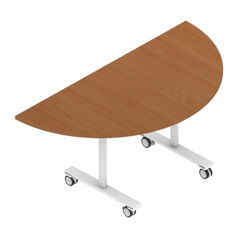 Meeting Table w1200 x d600 x h727 mm Colorado Semi Circular Tilt Top Tables w1200 x d600 x h727 mm