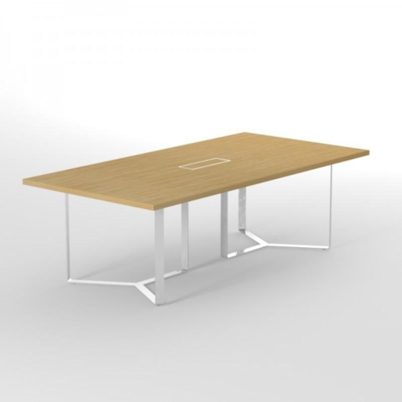 Meeting Table w2400 x d1200 x h750 mm / Painted Metal Frame Alpine Stylish Metal Frame Executive Conference Table w2400 x d1200 x h750 mm / Painted Metal Frame