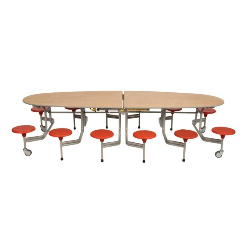 mobile folding tables Sico Oval Tables With Surround Seating