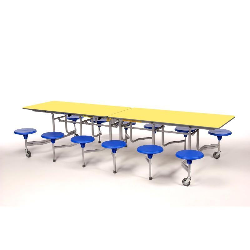 mobile folding tables Sico Rectangle Folding Tables With Stools