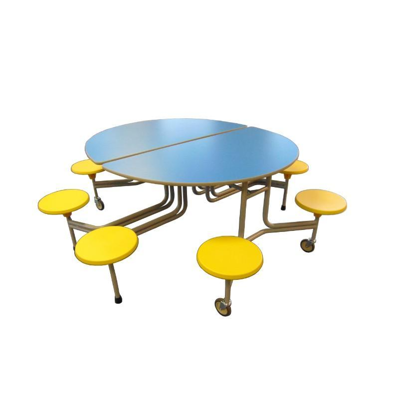 mobile folding tables Sico Round Tables With Surround Seating