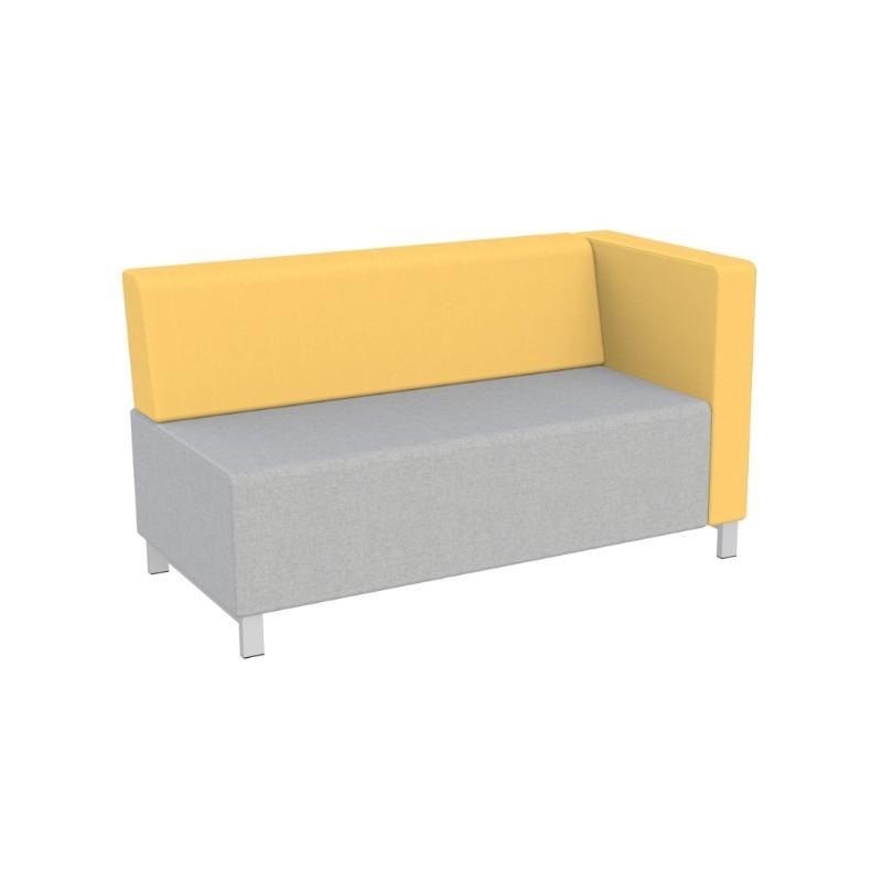 Modular Seating Double Unit w/Back & Left Arm (as seated) Stanza Seating Double Unit w/Back & Left Arm (as seated)
