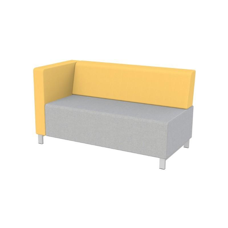 Modular Seating Double Unit w/Back & Right Arm (as seated) Stanza Seating Double Unit w/Back & Right Arm (as seated)