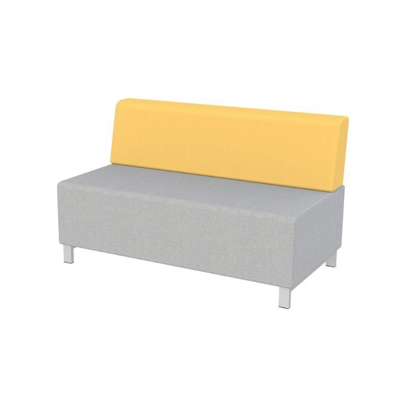 Modular Seating Double Unit w/Back Stanza Seating Double Unit w/Back