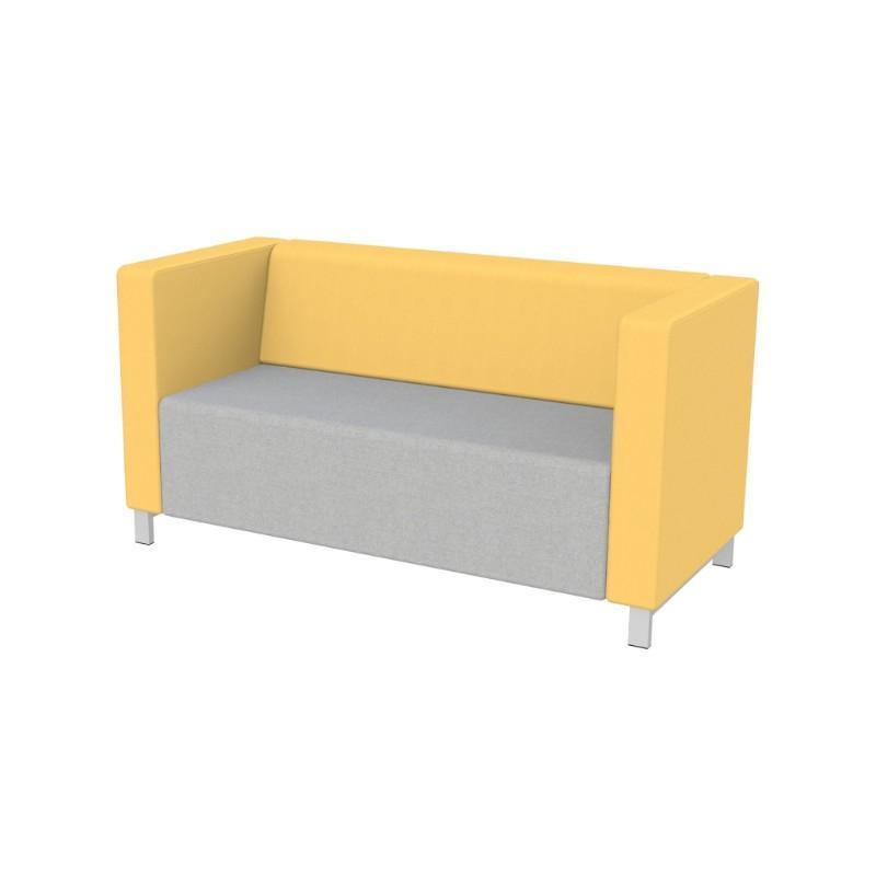 Modular Seating Double Unit w/Back & Two Arms Stanza Seating Double Unit w/Back & Two Arms