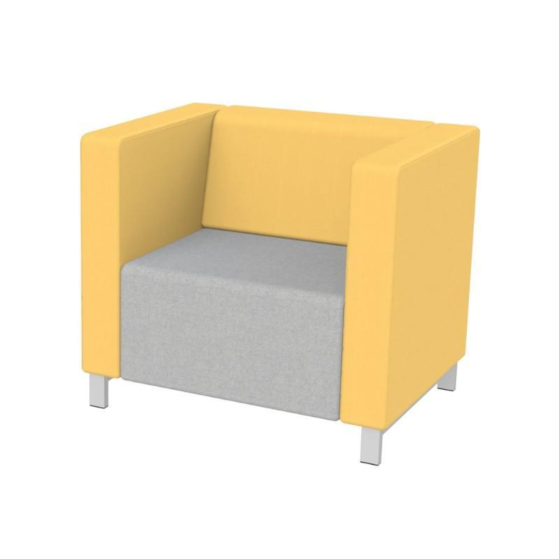 Modular Seating Single Unit w/Back & Two Arms Stanza Seating Single Unit w/Back & Two Arms