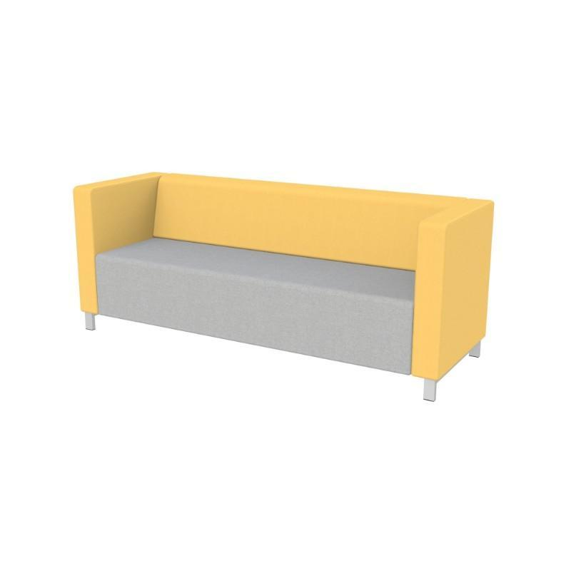 Modular Seating Triple Unit w/Back & Two Arms Stanza Seating Triple Unit w/Back & Two Arms