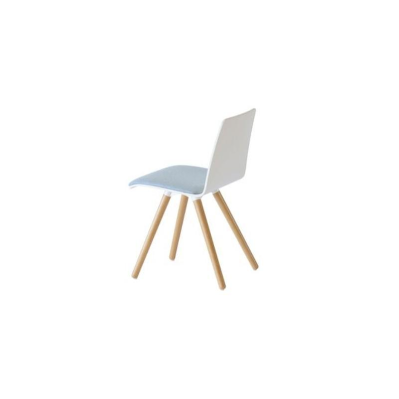 multipurpose chair White HPL / Upholstered Seat Pad Silo Wood Frame Chair White HPL / Upholstered Seat Pad