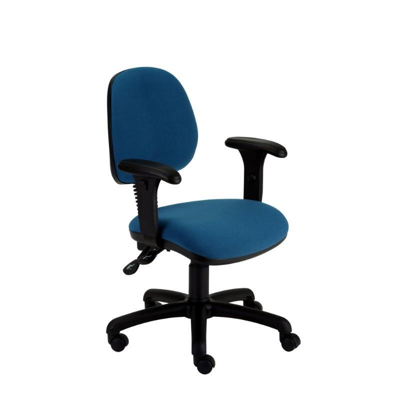 Operator Chair Adjustable Arms / Standard / Black Abingdon Medium Back Operator Chair Adjustable Arms / Standard / Black