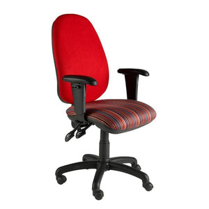Operator Chair Adjustable Arms / Standard / Black Marlow Plus Operator Chair Adjustable Arms / Standard / Black