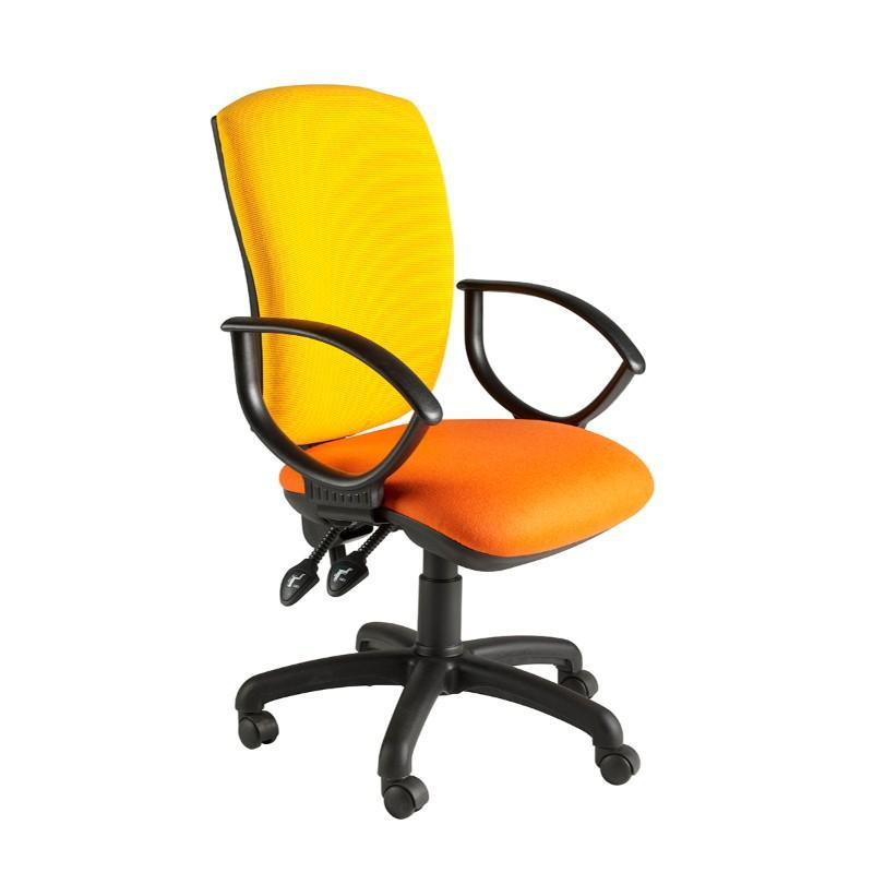 Operator Chair Fixed Arms / Standard / Black Hurley Squared Back Operator Chair Fixed Arms / Standard / Black