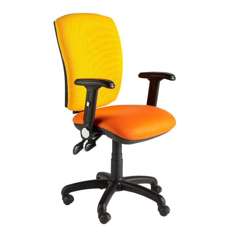Operator Chair Folding Arms / Standard / Black Hurley Squared Back Operator Chair Folding Arms / Standard / Black