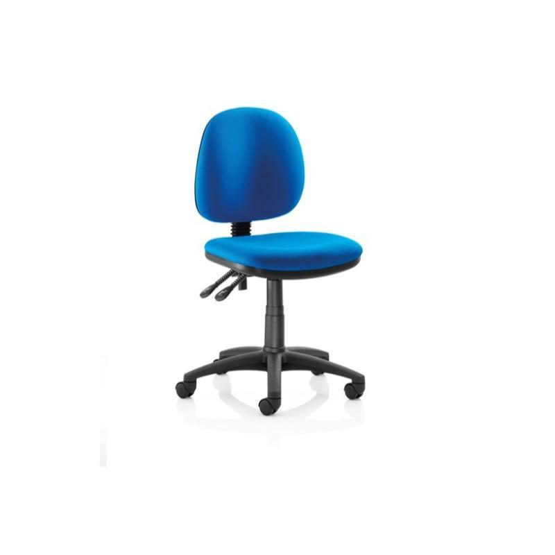 Operator Chair No Arms / Black Nylon Base Pitch High Back Operator Chair No Arms / Black Nylon Base