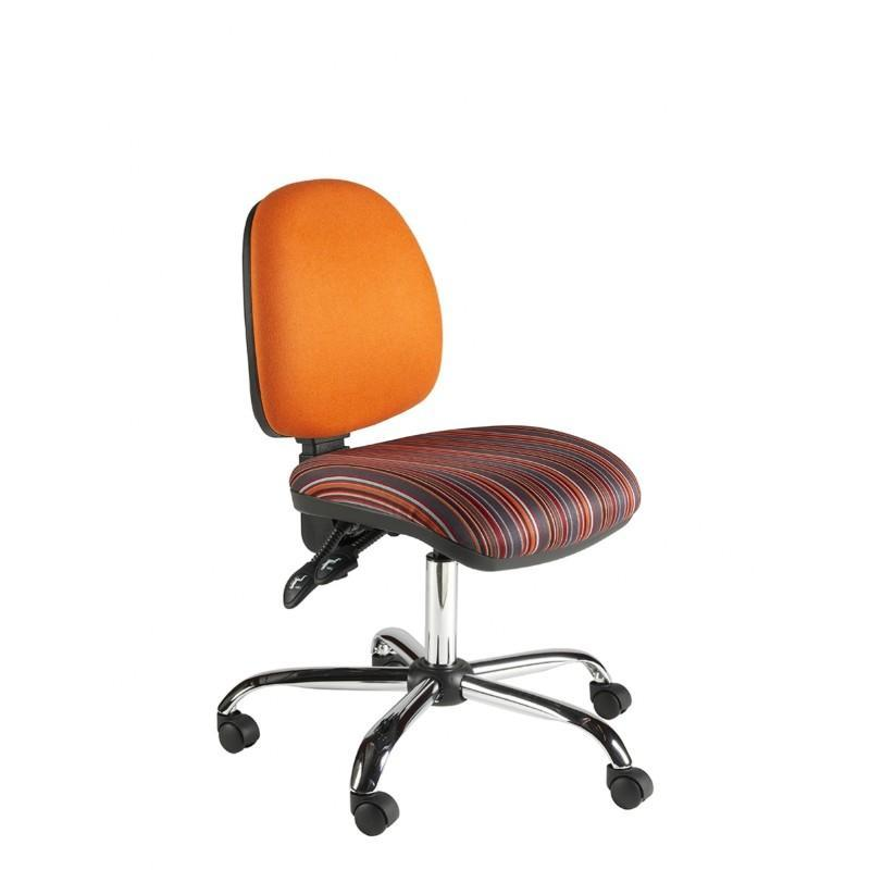 Operator Chair No Arms / Standard / Chrome Abingdon Medium Back Operator Chair No Arms / Standard / Chrome