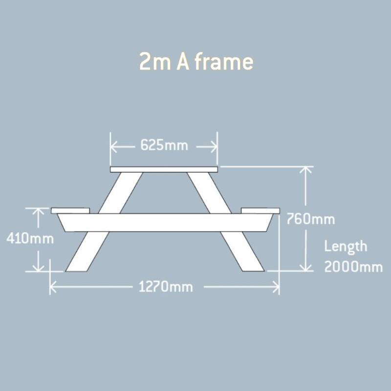 outdoor tables & benches 8 Seater A-Frame Table