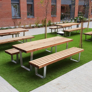 outdoor tables & benches Destiny Range 6 Seater Table & Bench Set