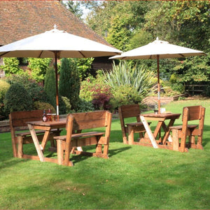 outdoor tables & benches Morton 6 Seater Table with Backrests