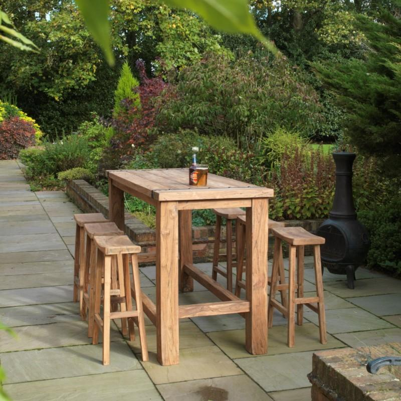 outdoor tables & benches Teak Chunky Poseur Set